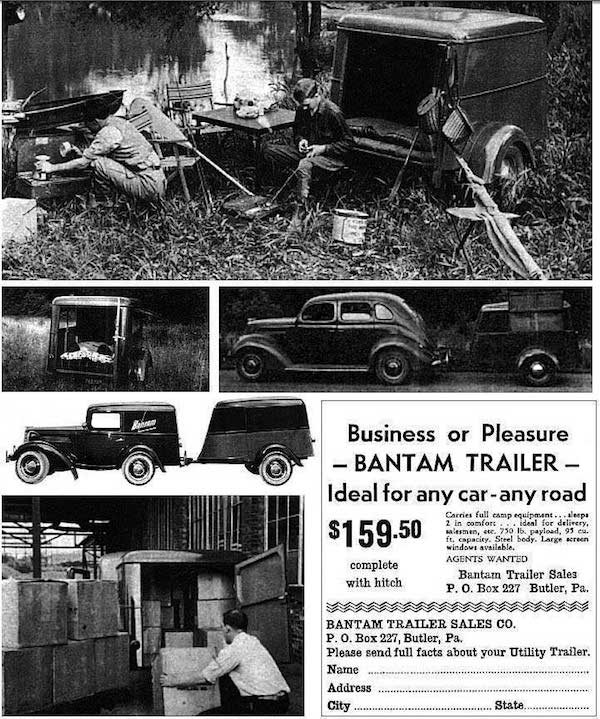 1945 Ad for American Bantam Civilian Trailers